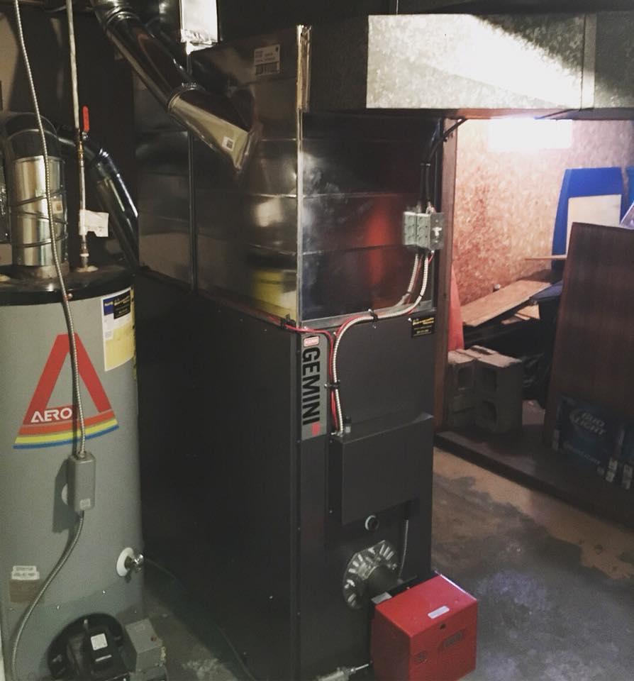 Oil Warm Air Furnace Installation Barracuda Heating